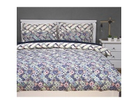 LivingStyles Corley Double Size Reversible Printed Quilt Cover Set - Multi