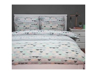LivingStyles Eve Queen Size Reversible Printed Quilt Cover Set - Grey