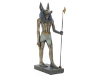 LivingStyles Cast Bronze Egyptian Mythology Figurine, Standing Anubis, Small