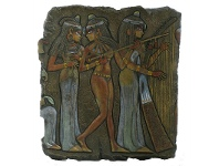 LivingStyles Veronese Cold Cast Bronze Coated Egyptian Musicians Wall Plaque