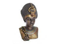 LivingStyles Veronese Cold Cast Bronze Coated Bust Sculpture, King Ramesses II