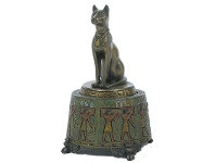LivingStyles Veronese Cold Cast Bronze Coated Bastet Figurine Music Box