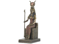 LivingStyles Veronese Cold Cast Bronze Coated Egyptian Mythology Figurine, Sitting Isis