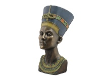 LivingStyles Veronese Cold Cast Bronze Coated Bust Sculpture, Queen Nefertiti, Large