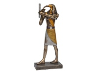 LivingStyles Veronese Cold Cast Bronze Coated Egyptian Mythology Figurine, Standing Thoth