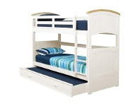 LivingStyles Ranch Wooden Single Bunk Bed with Trundle