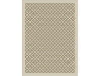 LivingStyles St Tropez Jersey Home Lattice 240x330cm Indoor/Outdoor Rug - Cream