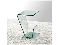 LivingStyles Scotello Tempered Glass Side Table