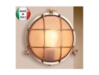 LivingStyles Eden Large Cast Brass Round Bunker - Made In Italy