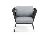 LivingStyles Liosia Rope & Steel Lounge Armchair