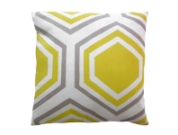 LivingStyles Sweden Honeycomb Cotton Scatter Cushion, Yellow