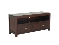 LivingStyles Milan Mahogany 2 Drawer TV Unit, 120cm, Mahogany