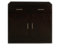 LivingStyles Paris Mahogany Timber 2 Door 2 Drawer Buffet Table, 92cm, Chocolate