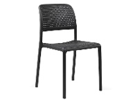 LivingStyles Bora Italian Made Commercial Grade Stackable Indoor/Outdoor Side Chair - Anthracite