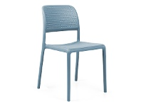 LivingStyles Bora Italian Made Commercial Grade Stackable Indoor/Outdoor Side Chair - Blue