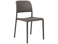 LivingStyles Bora Italian Made Commercial Grade Stackable Indoor/Outdoor Side Chair - Taupe