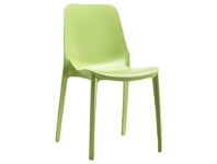 LivingStyles Ginevra Italian Made Commercial Grade Outdoor Side Chair - Green