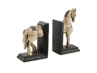 LivingStyles Set of Polyresin Horse Bookends