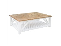 LivingStyles Avista Solid Timber Parquetry Top 140cm Coffee Table