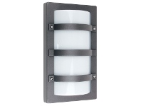 LivingStyles Trio IP65 Commercial Grade Exterior Bunker Wall Light, Large, Graphite