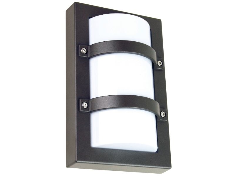 Trio IP65 Commercial Grade Exterior Bunker Wall Light, Small, Graphite