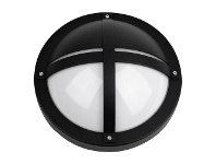 LivingStyles Tanto IP65 Commercial Grade Exterior Bunker Wall Light, Black