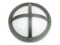 LivingStyles Solo IP65 Commercial Grade Exterior Bunker Wall Light, Graphite