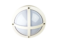 LivingStyles Solo IP65 Commercial Grade Exterior Bunker Wall Light, White