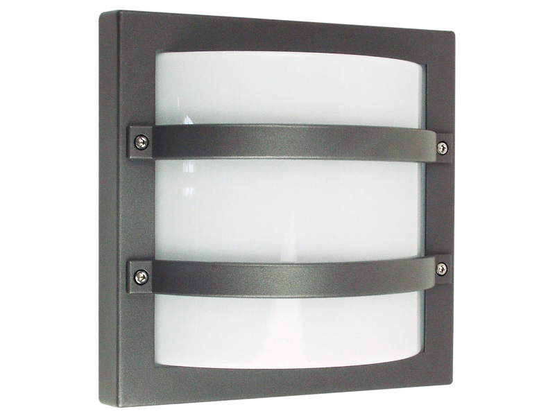 Largo IP65 Commercial Grade Exterior Bunker Wall Light, Graphite