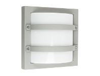 Largo IP65 Commercial Grade Exterior Bunker Wall Light, Silver