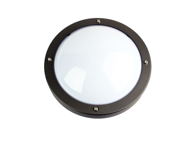 Primo IP65 Commercial Grade Exterior Bunker Wall Light, Graphite
