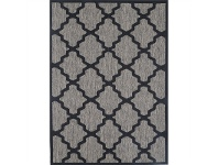 LivingStyles Sisalo Udile Egyptian Made Rug, 67x140cm, Mix/Black