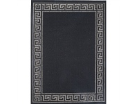 LivingStyles Sisalo Gable Egyptian Made Rug, 80x150cm, Black