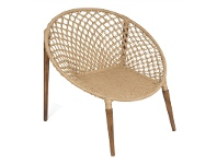 LivingStyles Espirit Woven Jute Occasional Ring Chair