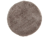 LivingStyles Soho Texture Hand Tufted Round Shag Rug, 120cm, Beige