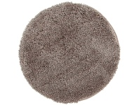 LivingStyles Soho Texture Hand Tufted Round Shag Rug, 90cm, Beige