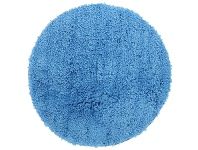 LivingStyles Soho Texture Hand Tufted Round Shag Rug, 90cm, Blue