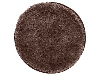 LivingStyles Soho Texture Hand Tufted Round Shag Rug, 120cm, Mink