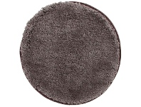 LivingStyles Soho Texture Hand Tufted Round Shag Rug, 90cm, Mink