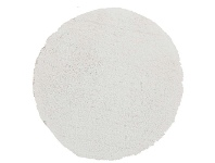 LivingStyles Soho Texture Hand Tufted Round Shag Rug, 90cm, White