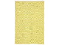 LivingStyles Villa Diamond Hand Loomed Cotton Rug in Yellow - 270x180cm