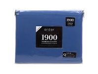 LivingStyles Ardor 1900TC Cotton Rich King Bed Sheet Set - Blue