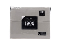 LivingStyles Ardor 1900TC Cotton Rich Queen Bed Sheet Set - Grey