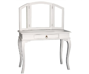 Queen Ann Mahogany Timber Dressing Table, White