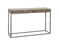 LivingStyles Iberia Driftwood and Stainless Steel 120cm Console Table