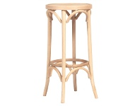 LivingStyles Florence Polish Made Commercial Grade Beech Timber Bar Stool, Natural
