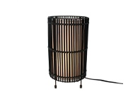 LivingStyles Sanong Bamboo & Iron Table Lamp - Black