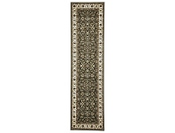 LivingStyles Sydney Classic Turkish Made Oriental Runner Rug, 400x80cm, Green / Ivory