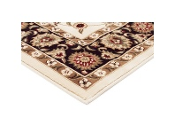LivingStyles Sydney Classic Turkish Made Oriental Rug, 290x200cm, Ivory / Black