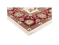 LivingStyles Sydney Classic Turkish Made Oriental Rug, 150x80cm, Ivory / Red